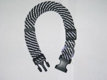 Puppy Collar Black/White